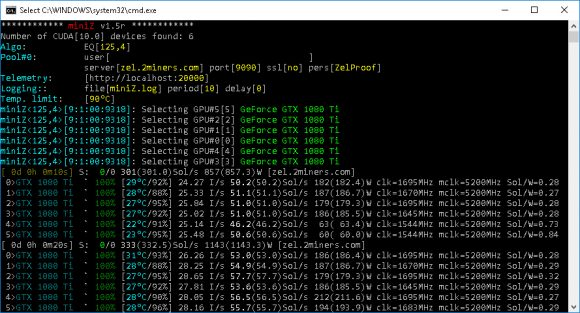 miniZ v1.5r Multi-Equihash Nvidia CUDA Miner with Improved Performance and Fixes