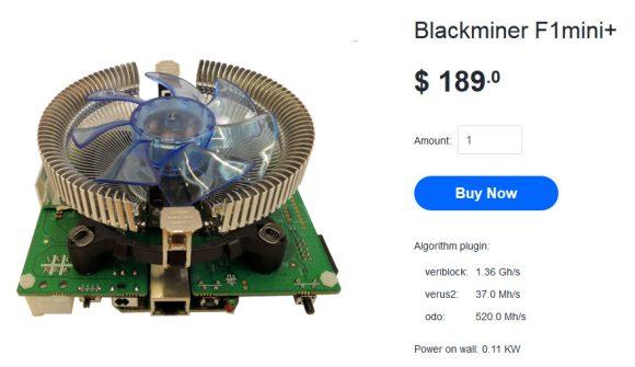New Hash Altcoin Blackminer F1mini+ Single Chip FPGA Miner