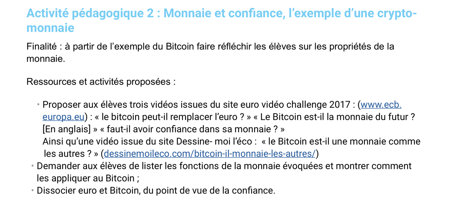 French Ministry of Education Publishes Bitcoin-Resource Guide for Educators