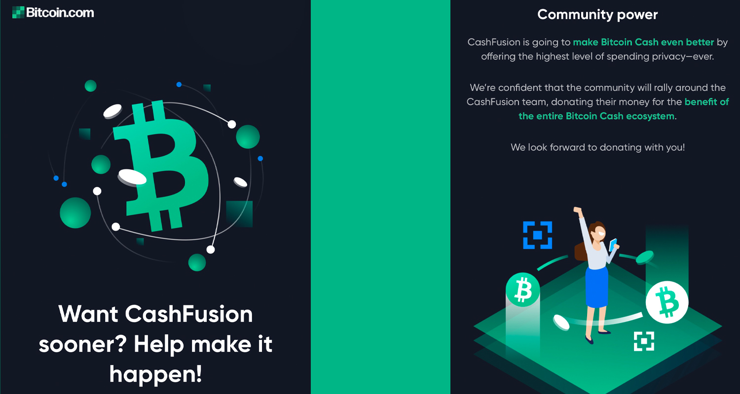 Bitcoin.com's Cashfusion Fund Exceeds Goal: $100K Raised for Bitcoin Cash Privacy
