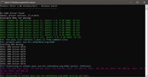 PhoenixMiner 5.0b Update Addressing Support for AMD Cards With 4GB VRAM