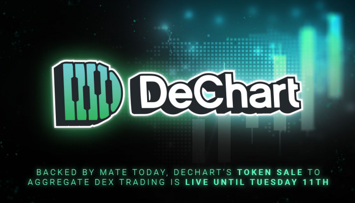 Backed by Mate Tokay, DeChart's Token Sale to Aggregate DEX Trading Is Live Until Tuesday 11th